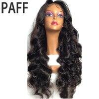 36C Для тела волна Синтетические волосы на кружеве парик Brazlian non-реми волос натуральный Цвет 180% Плотность Человеческие волосы парик для черны...