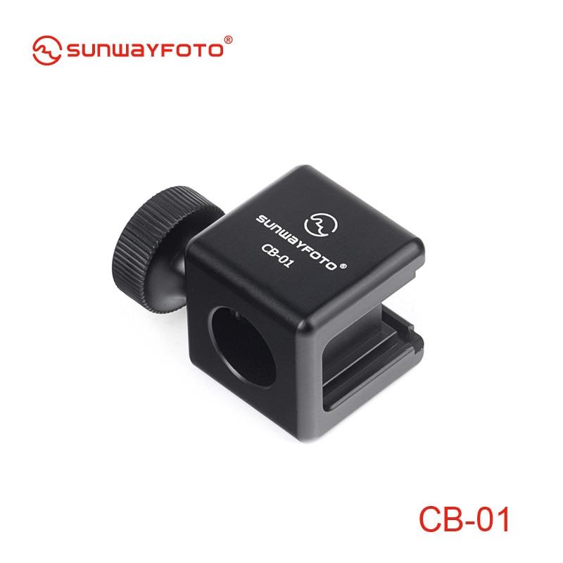Sunwayfoto Cb-01 Digital camera Flash Scorching Shoe Mount Adapter 1/four Screw Adapter Seat Block To Flash Hotshoe Bracket Holder For Digital camera