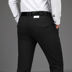 Image 5 - Yeni gelenler erkek iş rahat pantolon moda pantolon düz pamuk elastik temel klasik erkek moda pantolon artı boyutu 28 42