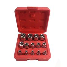 "14pcs/set E Torx Star Female Bit Socket Set 1/2"" 3/8"" 1/4"" Drive E4 - E24 Socket repair tool hand tool set high quanlity(China)"