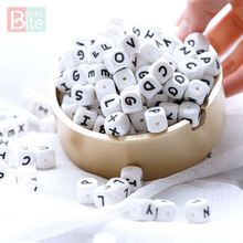 Bite Bites 12mm Silicone Alphabet Letters Baby Teether Teething Pacifier Chain Making BPA Free Food Grade Beads 10pc