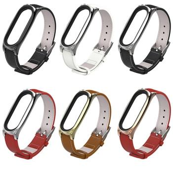 PU Leather Strap For Xiaomi Mi Band 3 Strap Bracelet Miband 3 Wristbands Pulseira Miband 3 Wrist Band For Mi Band 3