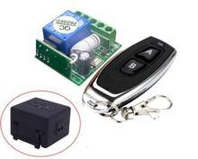 جهاز استقبال وجهاز تحكم عن بعد لاسلكي صغير 12 فولت تيار مستمر عالمي + جهاز إرسال