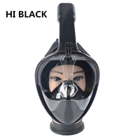 Full Face Snorkeling Mask 180 Degree Wide View Scuba Underwater Detachable Diving Mask Swimming Snorkel Anti