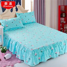 Bedcover cubrecama, bedspread bedclothes, fashion Cotton Bed skirts, single sheets, colourful bed cover 1.8/1.5/1.2 meters.(China)