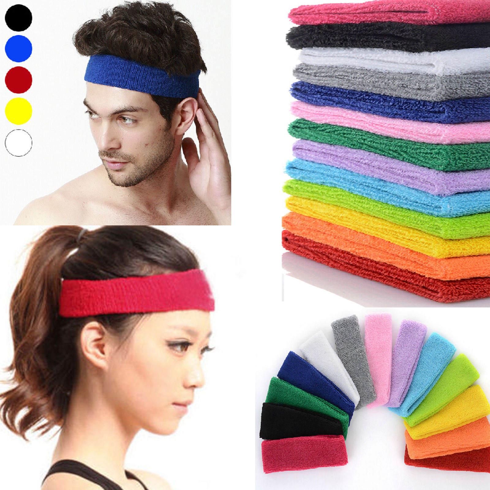 Headband for Men and Women Optical Two Multiple Spiral Balls Casual Headband Sweatband Fishing Mask Head Wrap Headwear Bandana Neck Gaiter