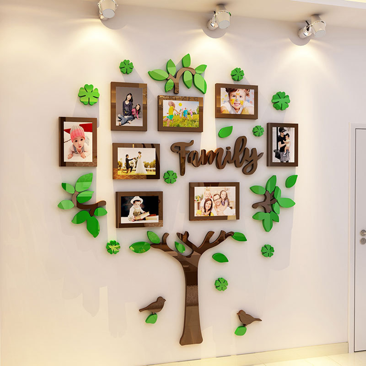 Family Tree Wall Art Picture Frame.Us 20 4 28 Off 3d Arcylic Diy Family Photo Frame Tree Wall Sticker Home Decor Living Room Bedroom Art Picture Frame Wall Decals Poster Photo In Wall