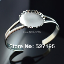 25mm Lace Cameo Charms silver plated Bracelet Attractive Jewelry, Bracelet blank base Tray Bezel Cabochon Setting