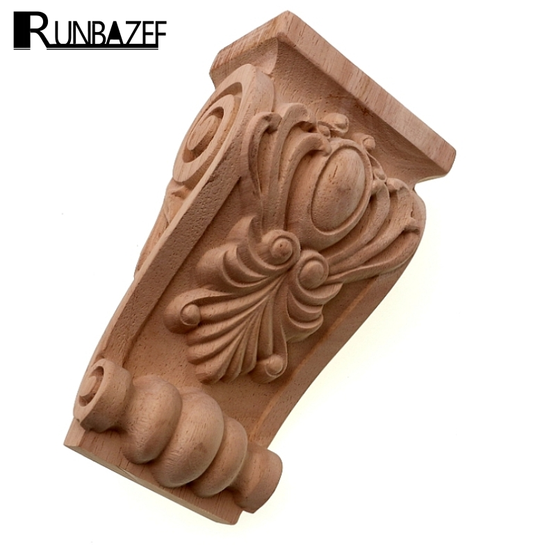 RUNBAZEF Wooden Embossed Head Girder Exquisite Classic Carved Applique Furniture Decal Wood Color Home Decoration AccessoriesRUNBAZEF Wooden Embossed Head Girder Exquisite Classic Carved Applique Furniture Decal Wood Color Home Decoration Accessories