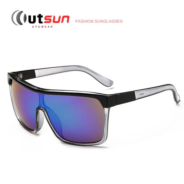 Outsun 2017 new gafas de sol de los hombres/de las mujeres diseñador de la marca de moda de una pieza estilo deportivo os802 recubrimiento uv400 gafas de sol al aire libre