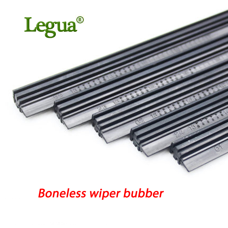 Legua 1 pcs High Quality Boneless Rubber Car Wiper Blade refill Strips Windscreen 14''16''17''18''19''20''21''22''24''26''28''30''32''