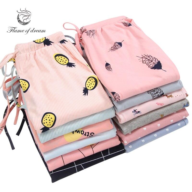 Sleeping Trousers Home Pants For Women Pajama Pants Sleep Bottoms 8696