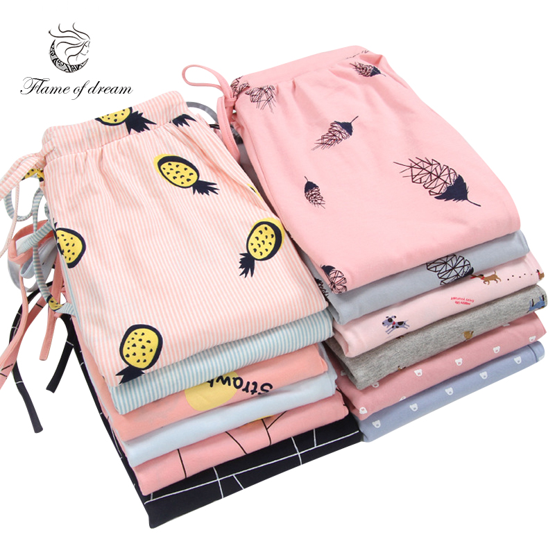 1 Pcs Sleeping Trousers Home Pants For Women Pajama Pants Sleep Bottoms 8696