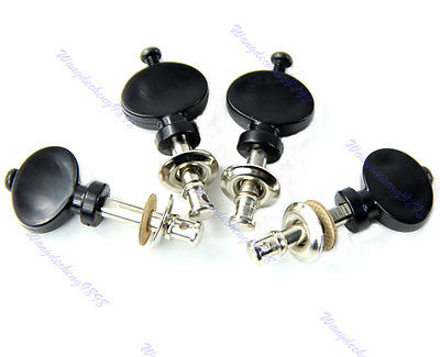Ukulele Strings Tuning Pegs Pin Machines Tuners Friction Ukelele New Black 4PCS kaish black 6 inline 2 pin locking tuning keys pegs tuners fits usa strat tele