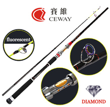 Carbon fishing rod K CLOTH SPIGOT CONNECTION 2014 NEW CARBON JIGGING ROD boat material 2 section 1.80m FREE SHIPPING