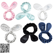 1pc Velvet Elastic Bunny Ears - Spa Wash Face Makeup Facial Hair Band Rabbit Headbands Hairbands Accessories Headwear