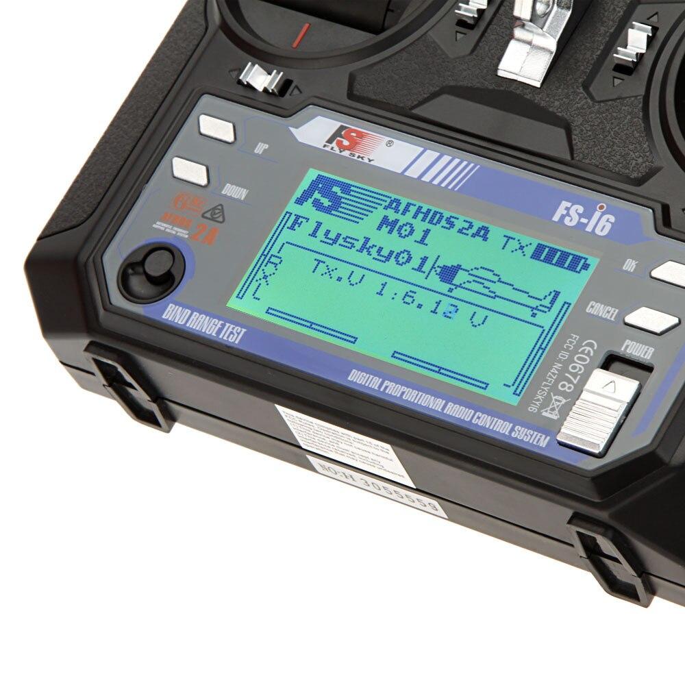 Flysky FS i6 6CH 2,4G AFHDS 2A transmisor LCD iA6 receptor modo 2/1 sistema de Radio para RC Heli planeador Quadcopter f14914/5-in Partes y accesorios from Juguetes y pasatiempos    3