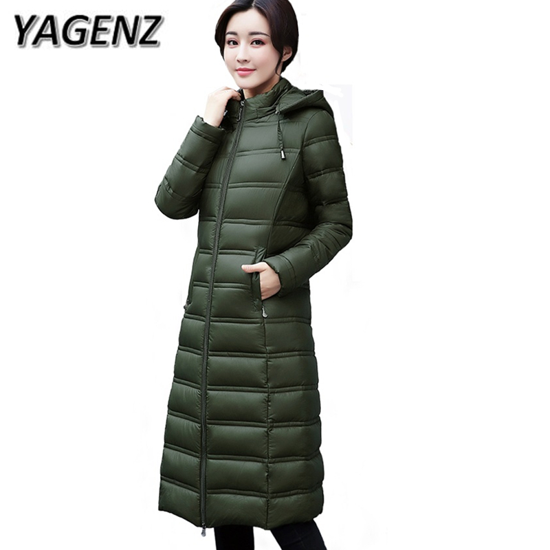 2018 Winter Down cotton Women Jacket Warm Hooded Coats Fashion Slim Middle-aged Lady Long Outerwear Casual Cotton Jackets Female 2018 winter women jacket coats slim medium long down cotton hooded outerwear thick warm casual jacket student coat lady clothing