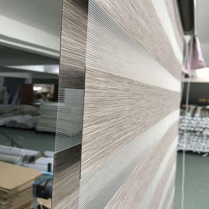 Image 4 - Custom Made 80% Blackout Dubbele Laag Roller Zebra Blinds Gordijnen Voor Woonkamer 12 Kleur Zijn Beschikbaar