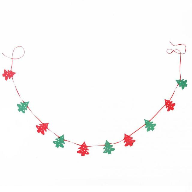 Christmas Banner Part - 31: Merry Christmas Banner Felt Christmas Banners Christmas Bunting Garland  Banner Hanging Xmas Festivals Home And Shop