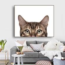 Cats Ainmals Prints on Wall Art Canvas Poster and Print Painting Decorative Picture for Living Room Bedroom Home Decor