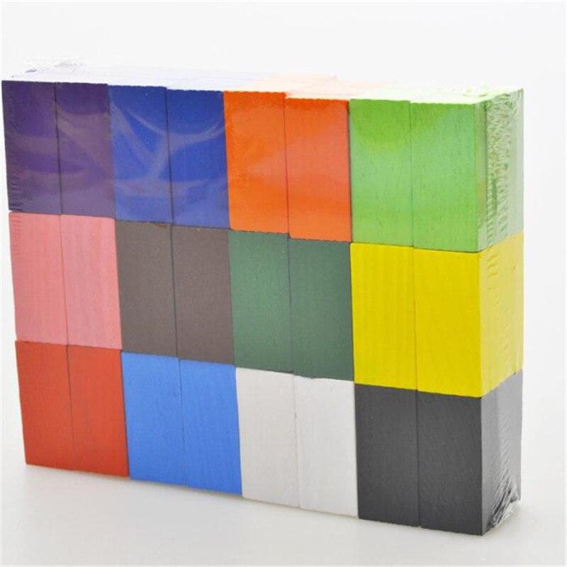 mocai 120pcs / lot Lojë bordit për fëmijë Dhuratë druri Domino - Lodra ndërtimi - Foto 5