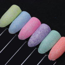 6 Candy Colors Pastel Sugar Nail Glitter Powder Set Shiny Ultra Fine Art Paillette