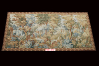 Free Shipping 6.2'x13.1' Handmade wool aubusson tapestry gobelin carpet, wall hanging tapestry wool tapestry paintings
