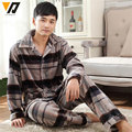 Men Long-sleeve Flannel Pajamas Set Coral Fleece Deer Garment Warm Adult Onesie Plain Pijama Hombre