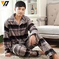 Men Long-sleeve Flannel Pajamas Set Coral Fleece Deer Garment Warm Adult Onesie Plain Pijama Hombre