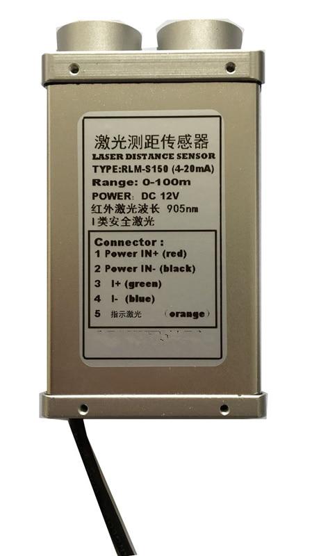 RS232 RS485 TTL 4-20ma 905nm 300 hz 150 m capteur de Distance laser télémètre industriel