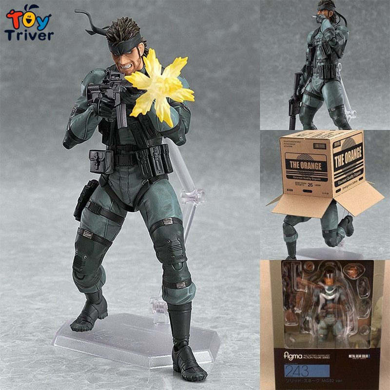 15cm METAL GEAR SOLID 2: SONS OF LIBERTY Figma 243 Snake PVC Action Figure Collectible Model Toy Birthday Christmas Gift Triver new metal gear solid v action figure toys 16cm mgs snake figma model collectible doll mgs figma figure kids toys christmas gifts