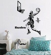 цена на Free shipping Rocket basketball star Harden dunk Wall Sticker home decor mural Living room and bedroom adornment sticker