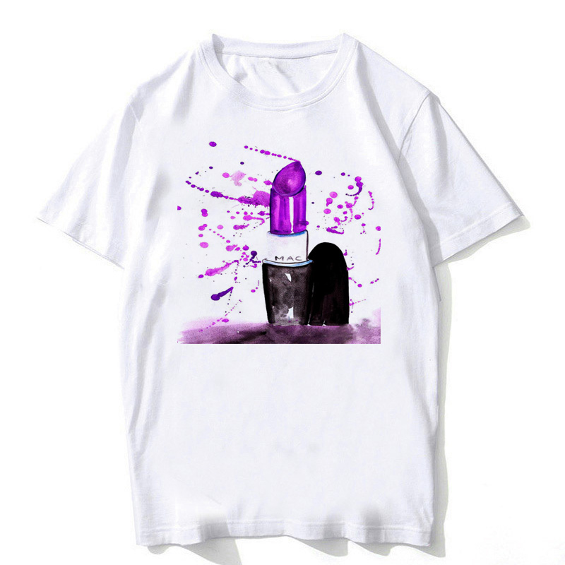 Tops & Tees Women's Clothing Karl T Shirt Women Watercolor Vogue Perfume Flowers Print Summer 2019 Korean Clothes Bts T-shirt Angel Top Femme Plus Size Kpop
