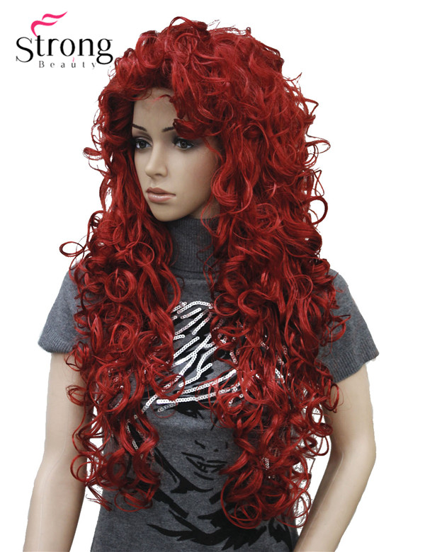StrongBeauty Long Curly Red Synthetic Wig Cosplay Wigs COLOUR CHOICESchoice   -