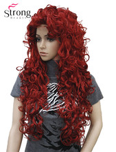 StrongBeauty Long Curly Red Synthetic Wig Cosplay Wigs COLOUR CHOICES