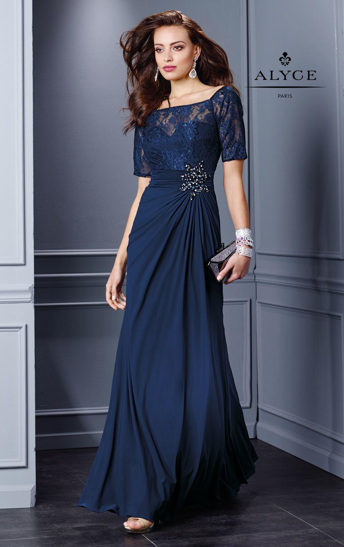 dff622cf4 vestidos largos de noche azul marino