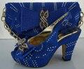 2017 de La Moda de Zapatos Italianos Con Los Bolsos Que Emparejan Fijados Para La Boda africano Zapato Y Conjunto de Bolsas Para Mujeres de La Manera Bombea Los Zapatos ME3306