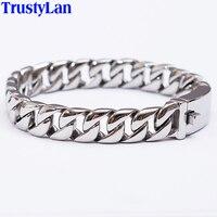Fashion New Link Chain Stainless Steel Bracelet Men Heavy 12MM Wide Friendship Mens Bracelets 2015 Bicycle