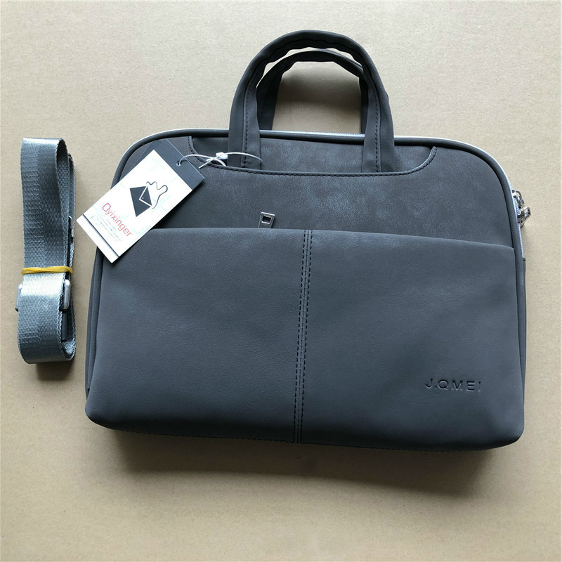 New Women Briefcase Handbags Men's Leather Briefcases Messenger Bags Man Black Shoulder Computer Bag Ladies Leather Laptop Bag