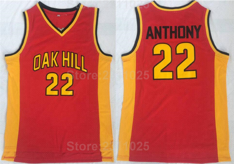 Detail Feedback Questions about Ediwallen College 22 Carmelo Anthony Basketball  Jerseys Oak Hill Red Yellow Uniforms Team Color All Stitched Free Shipping  ... 4bfdf1e06