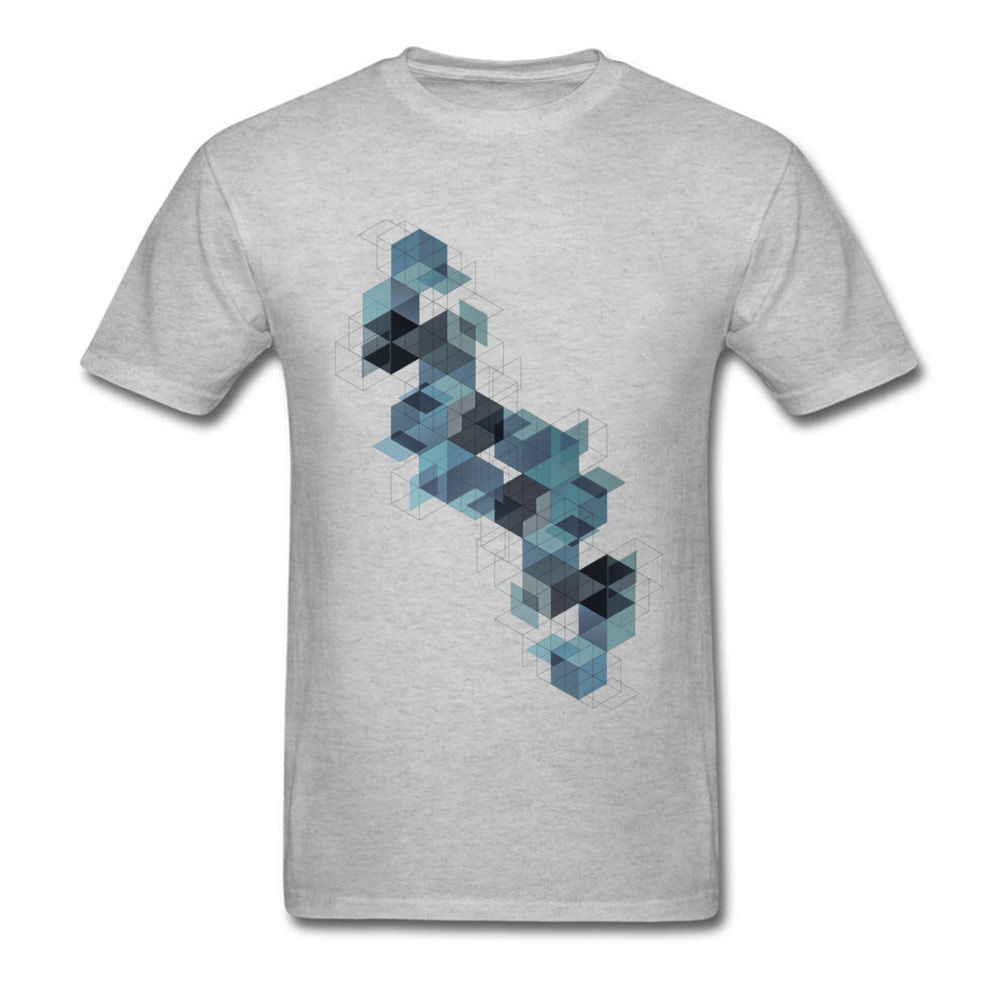Cube Architecture 2018 Fashion T Shirt Geometric Design Men Geek