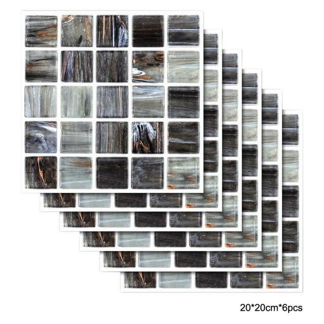 6 pcs DIY PET Duvar Karosu Duvar Kağıtları Odası Yapışkan Banyo Su Geçirmez  Kafes Sticker Mutfak Çıkartmaları|Duvar Çıkartmaları| - AliExpress