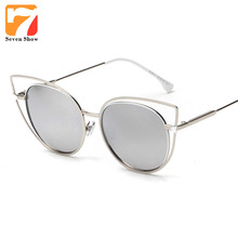 Fashion Cat Eye Sunglasses Women Brand Designer Steampunk Vintage Sun Glasses For Ladies Female Shades Oculos