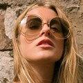 Vento Mix 2016 Big Rodada Óculos De Sol Das Mulheres Designer de Marca Original óculos de Sol Homens óculos Oculos de sol Gafas de sol Da Mulher Do Vintage Femin