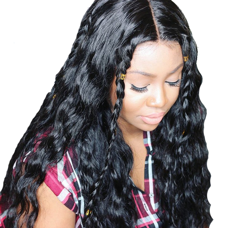 Human Hair Lace Wigs Silk Base Full Lace Wig 180% Loose Wave Pre Plucked Glueless Full Lace Human Hair Wigs With Baby Hair Brazilian Remy You May
