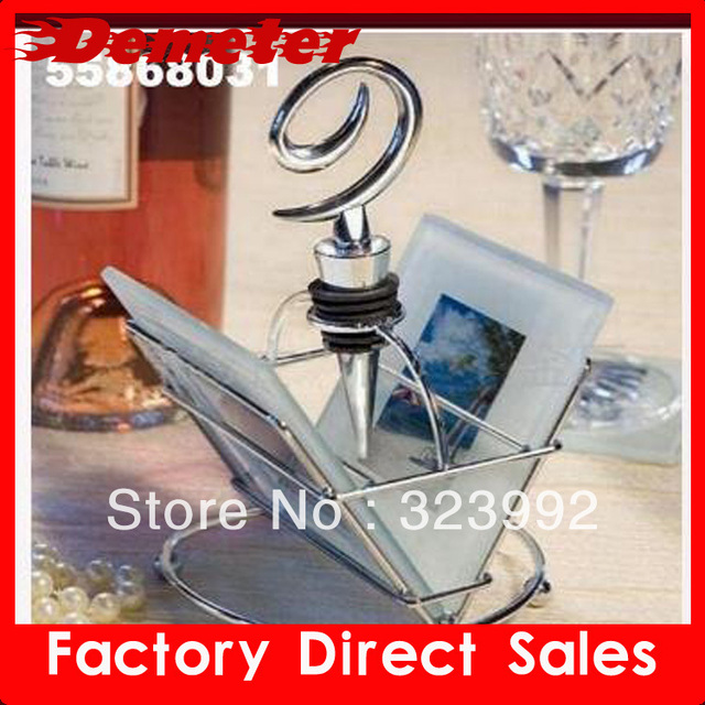 Free Shipping 10pcs a lot fashion wedding Wine Bottle Stopper New Arrival factory price good quality