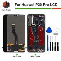 Лидер продаж правда 100% оригинал Экран ЖК дисплей для huawei P20 Pro Дисплей Сенсорный экран планшета Ассамблеи для huawei P20 ProCLT AL01 ЖК дисплей