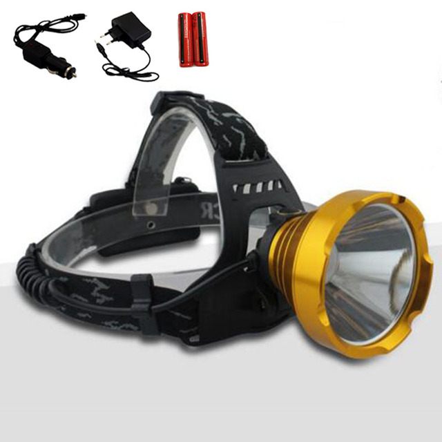 Portable 8w 1600 Lumen Led Headlampe Frontale Flashlight Lantern Led Headlight Head Lamp for Outdoor Camping Hiking Fishing
