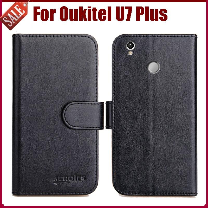 Pouzdro Oukitel U7 Plus Nový přírůstek 6 barev Vysoce kvalitní Flip Leather Exkluzivní ochranný obal pro pouzdro Oukitel U7 Plus